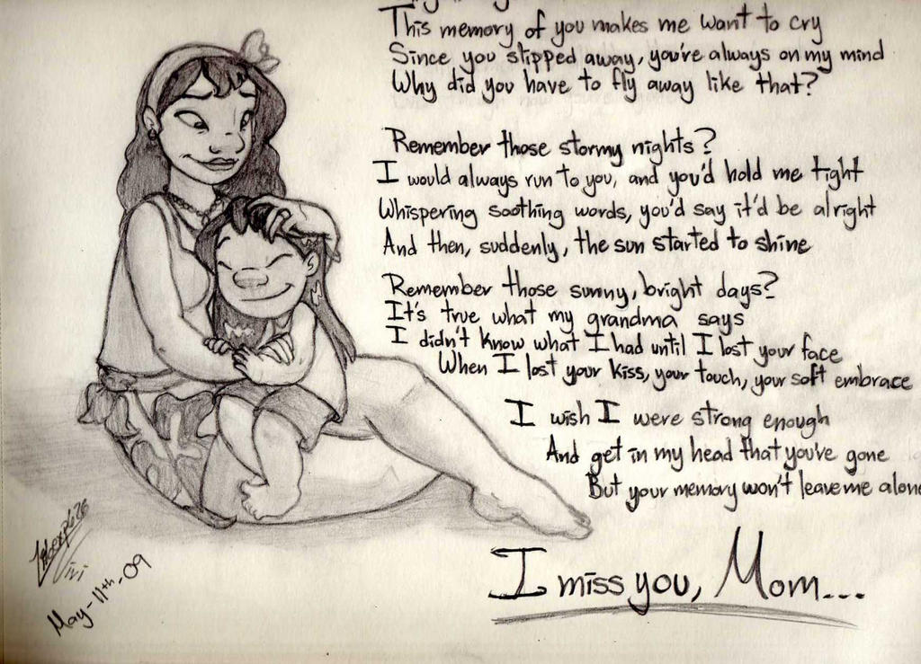 I miss you  mom by Liloexp626  I Miss You Friend Poems