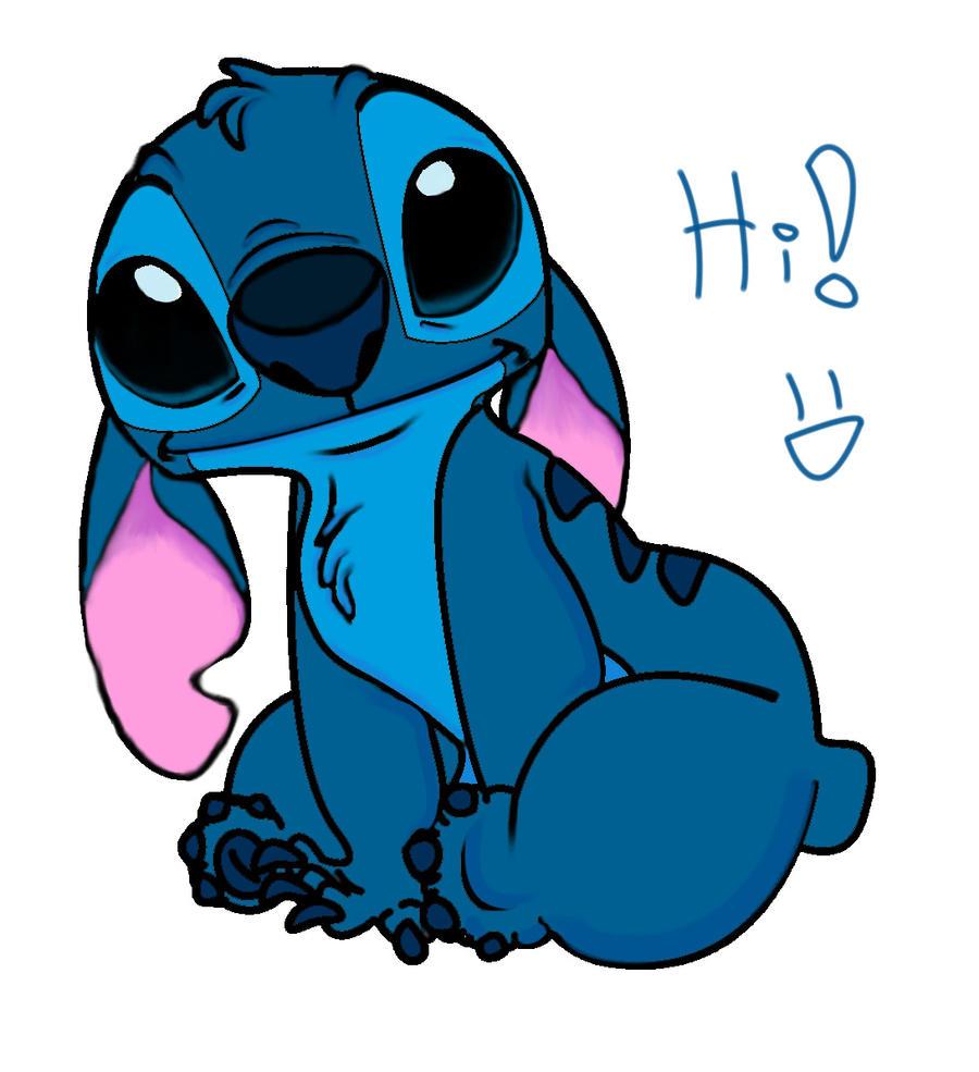 Stitch Says hi 8d by