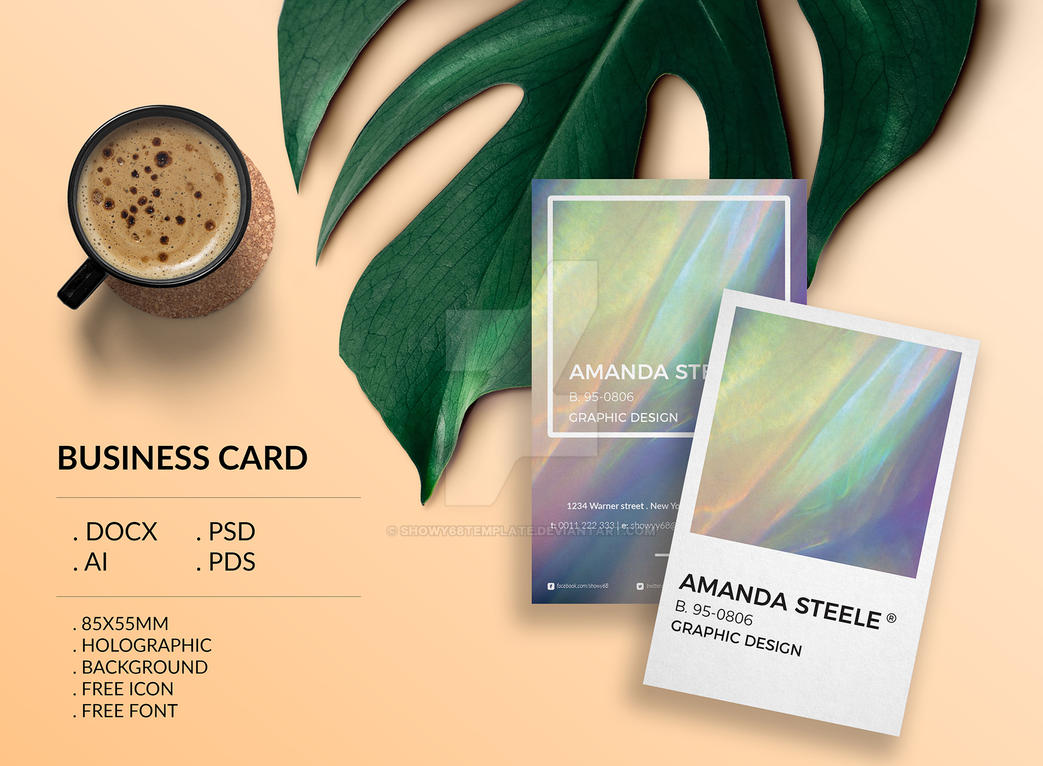 holographic will template - holographic business card template creative by