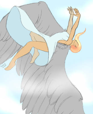 Helena in flight by tigerpixie16