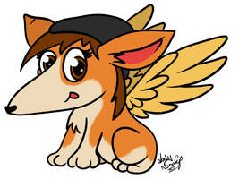 Holly the Corgeagle by LadyNanaki