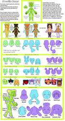 [Semi-Open Species] Sweeti Bears [Reference Sheet] by witch-kun