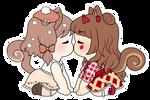 [OC] Abigail and Faith Kissu by witch-kun
