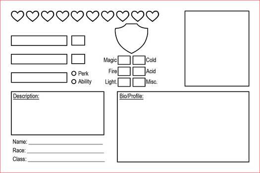 RPG character Card