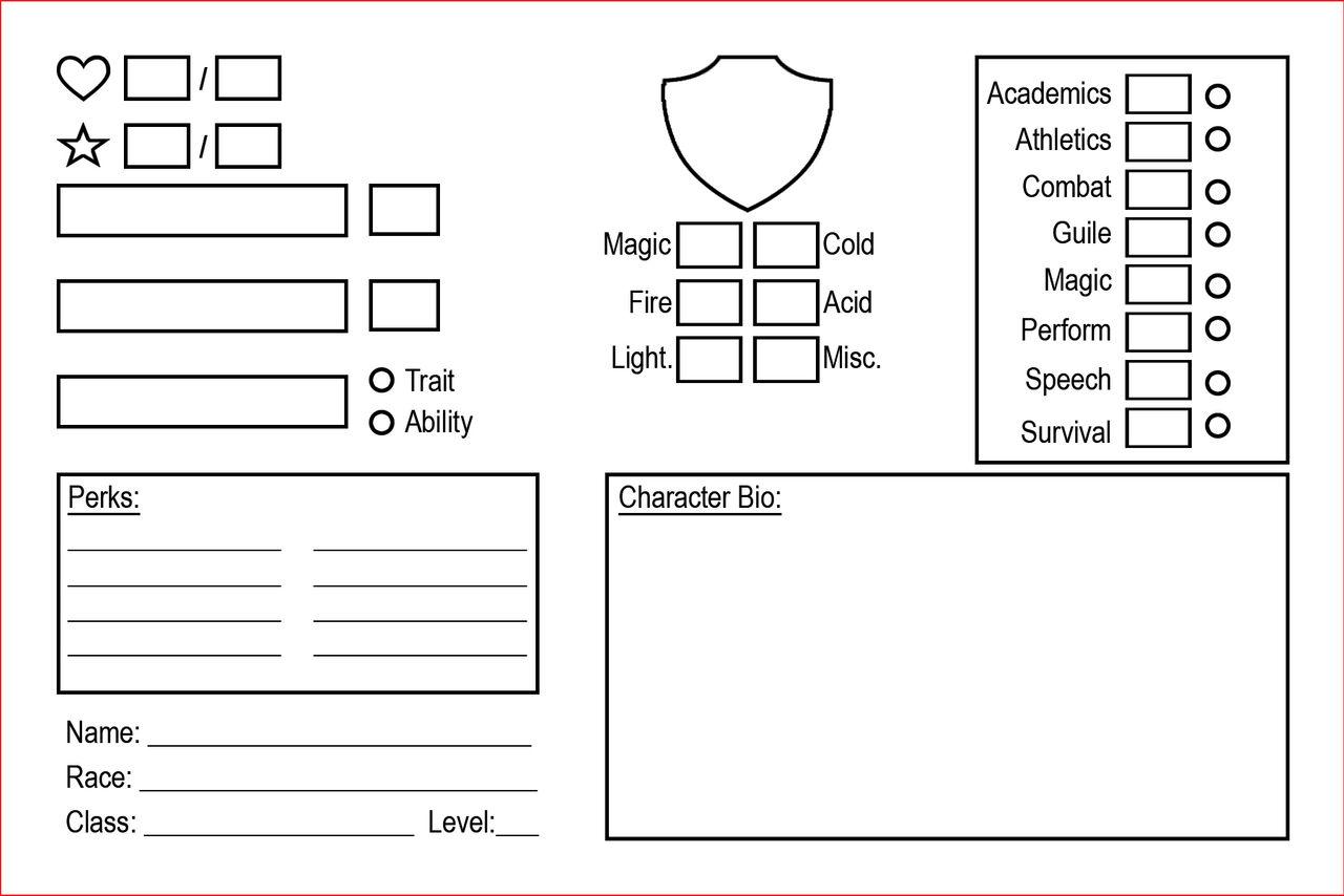 RPG character Card + Skills by gakusangi on DeviantArt