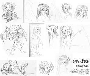 CJE - Gargoyles doodles by codaleia