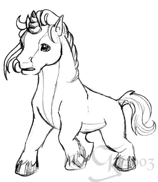 baby animal coloring pages unicorns - photo #36