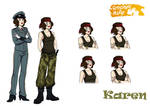 Karen character sheet by codaleia
