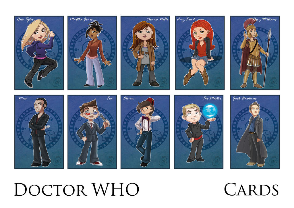 Japan Expo - Doctor Who cards by coda-leia