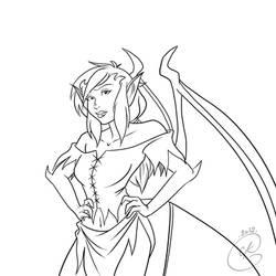 Gargoyles Request : Aella by coda-leia