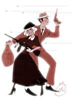 SD - Bonnie Parker and Clyde Barrow by coda-leia