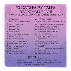 30 Days Fairy Tales Art Challenge - ENGLISH