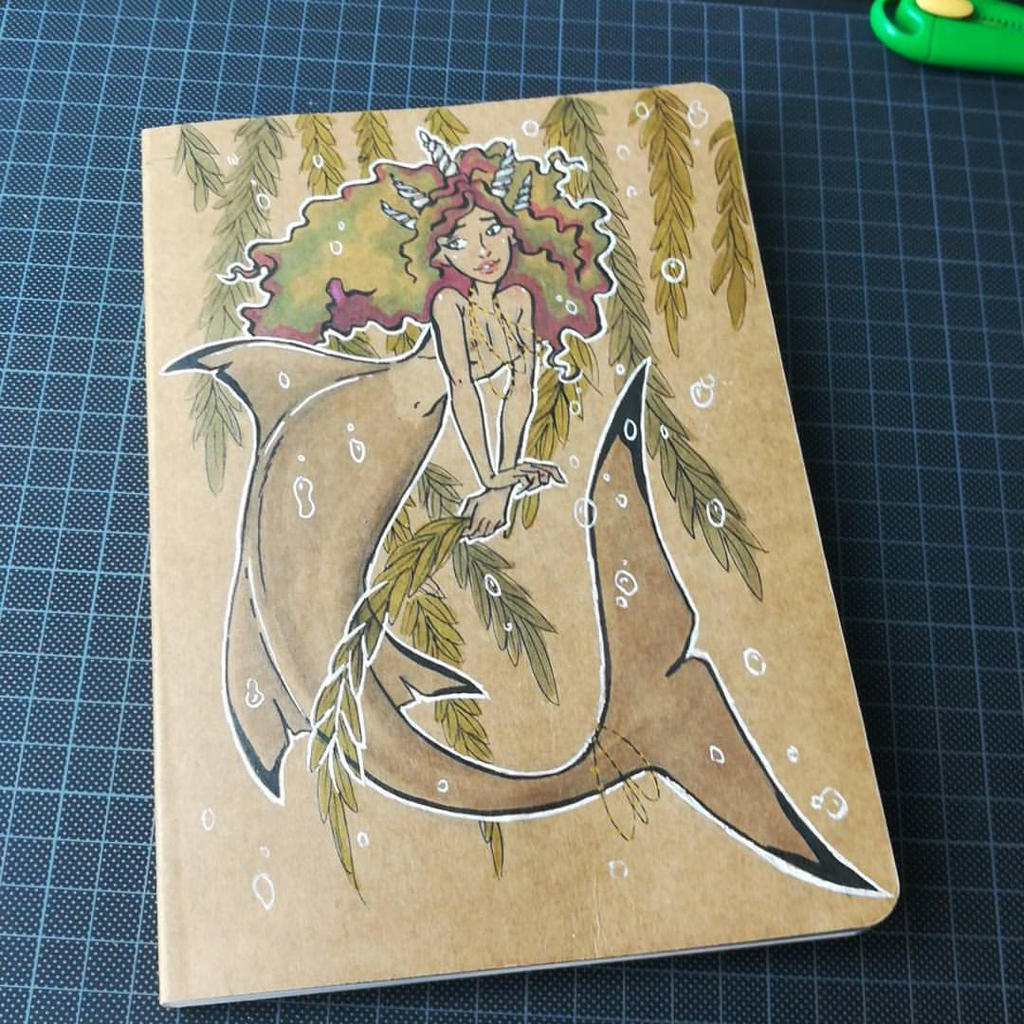 Notebook Cover Art ~ Notebook cover mermaid by coda leia on deviantart