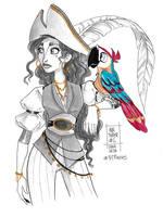 Inktober 2017 - Day 6 - Parrot by coda-leia