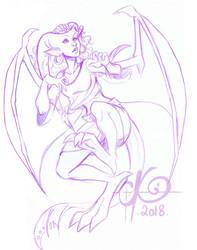 Violet Melusine sketch