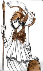 Inktober 2019 - Day 1 : Athena