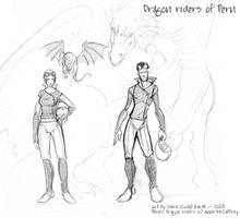 Dragon riders of Pern by coda-leia