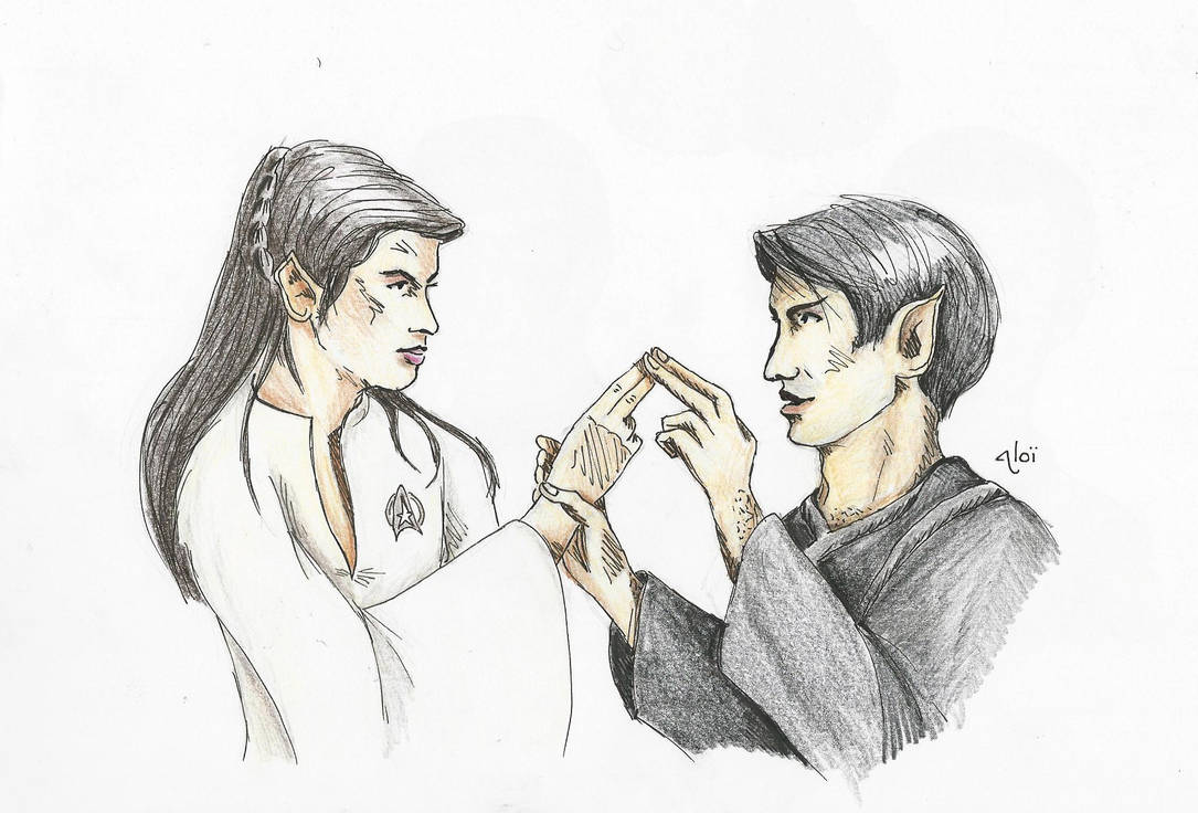 Pon Farr Kisses Teen Spock And Saavik By Aloiinthesky