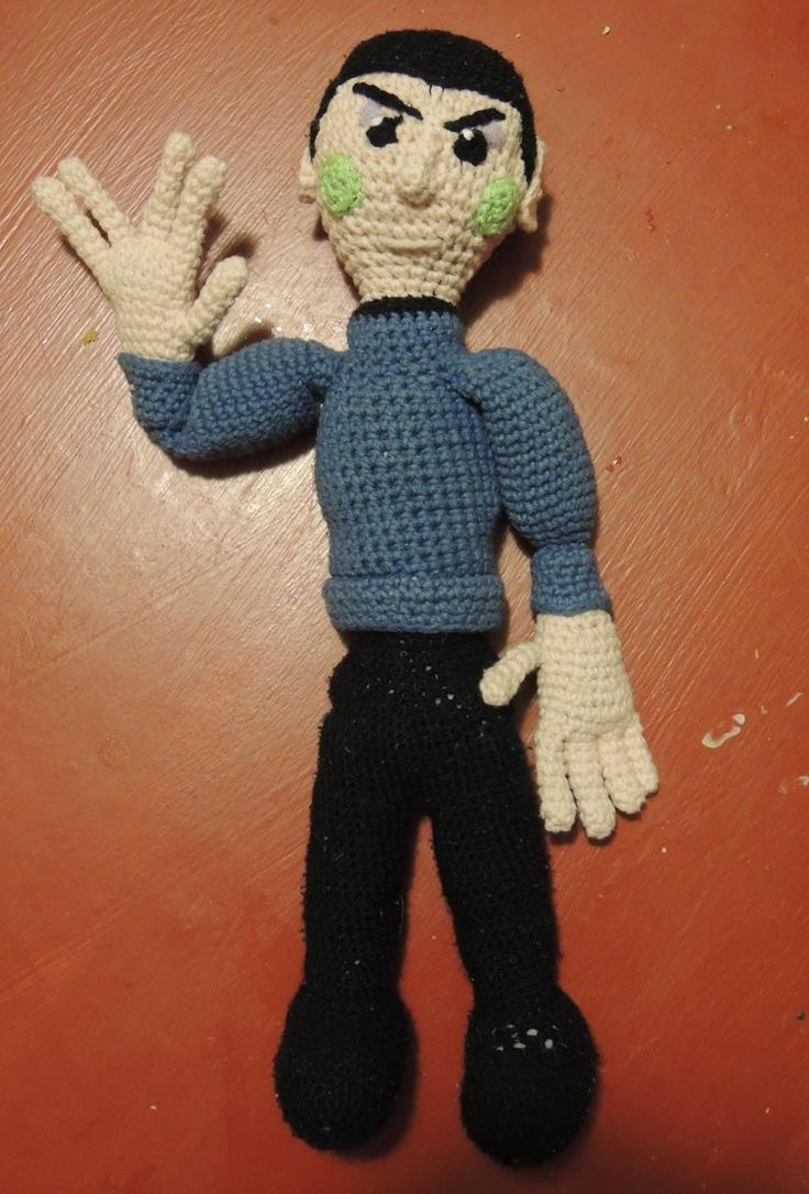 Amigurumi Pointed Ears : Crochet!Spocks vulcan features [Amigurumi] by ...