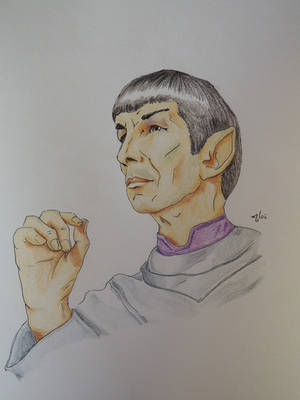 Gazing at the Stars [Leonard Spock] by AloiInTheSky