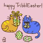 TribblEaster - Pusheen Spirk [Com Logicallyvulcan] by AloiInTheSky