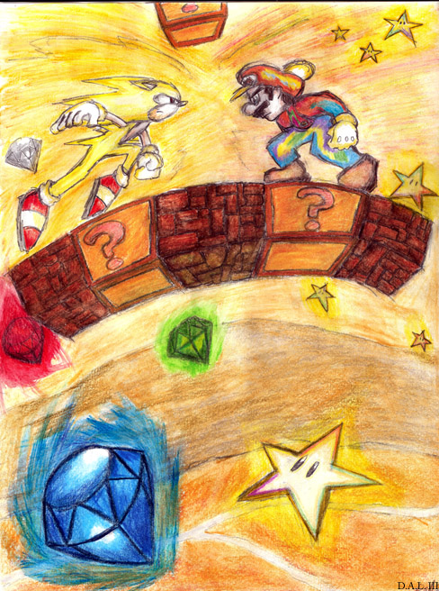 Super Sonic Vs. StarMan Mario by woodduckprime on DeviantArt