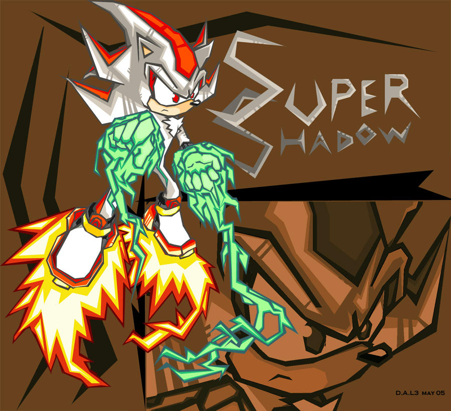 Super Shadow in battle style by woodduckprime