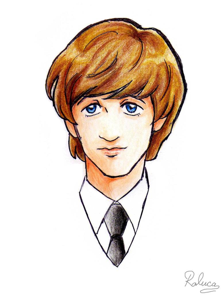 Ringo Starr anime by ayumi58