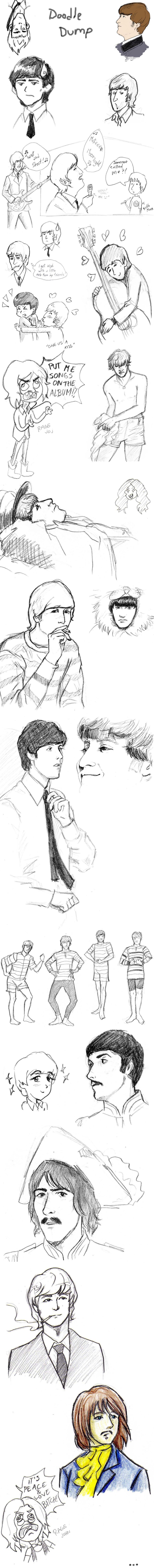 HUGE Beatles doodle dump by ayumi58