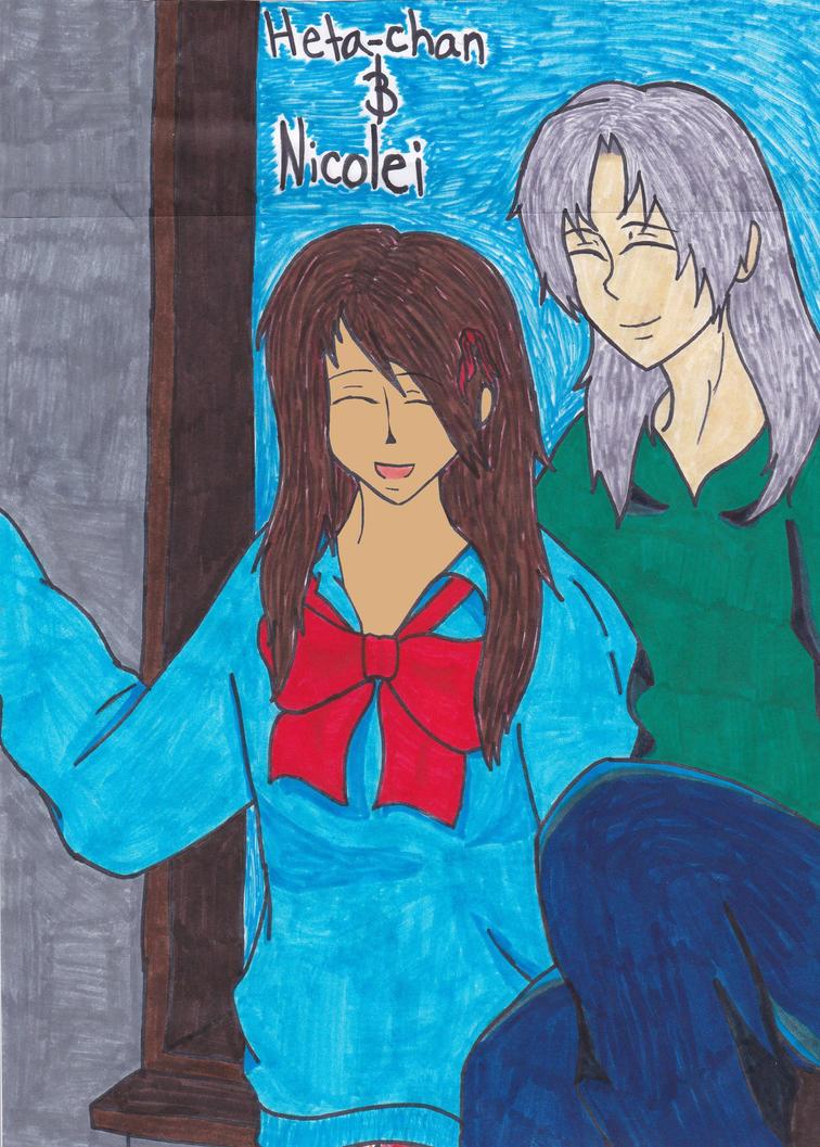 Heta-Chan and Nicolei: for hetaliagirl101 by frybetr03