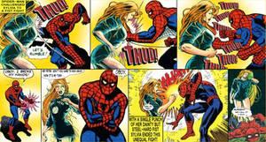 Sylvia met Spider-Man by SylviaShadow