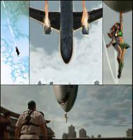 Sylvia saves a plane by SylviaShadow