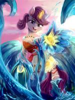 Sea princess (Moana+OC fusion) by DiscordTheGE