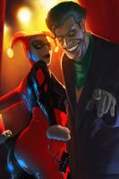 Harley Quinn and Joker by Memed