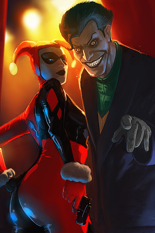 Harley Quinn and Joker by Memed
