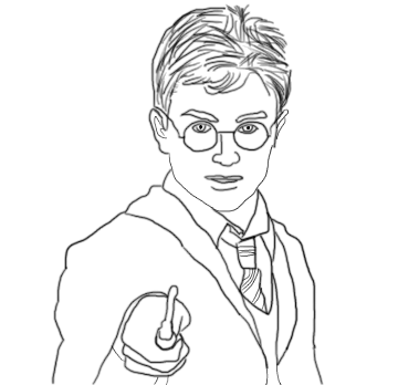 Harry potter black and white by Wumborox123 on DeviantArt