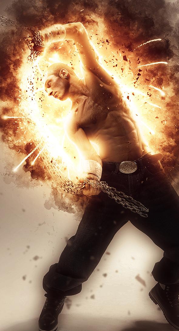 Explosion Photoshop Action by GraphixRiver on DeviantArt