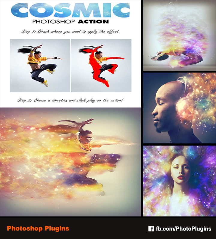 Cosmic Photoshop Action by GraphixRiver