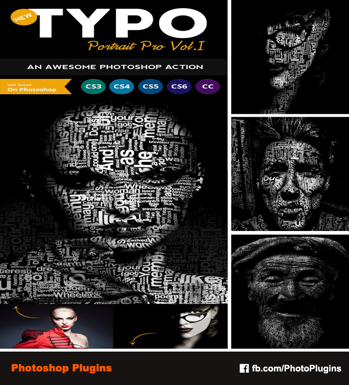 Typo Portrait Pro Photoshop Action by GraphixRiver on DeviantArt