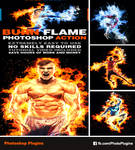 Burn Flame Photoshop Action