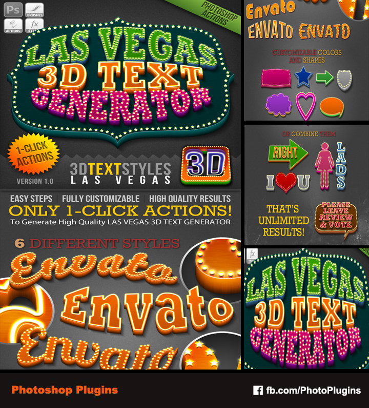 1 Click Action Las Vegas 3D Text Generator By GraphixRiver