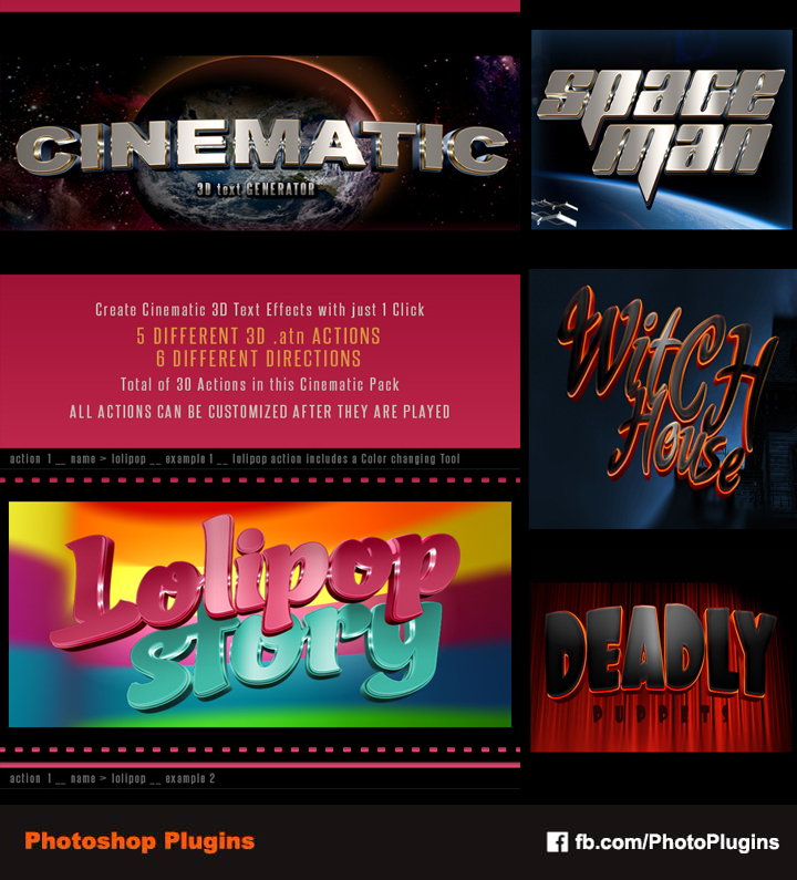 3D Cinematic Text Generator - Actions by GraphixRiver on
