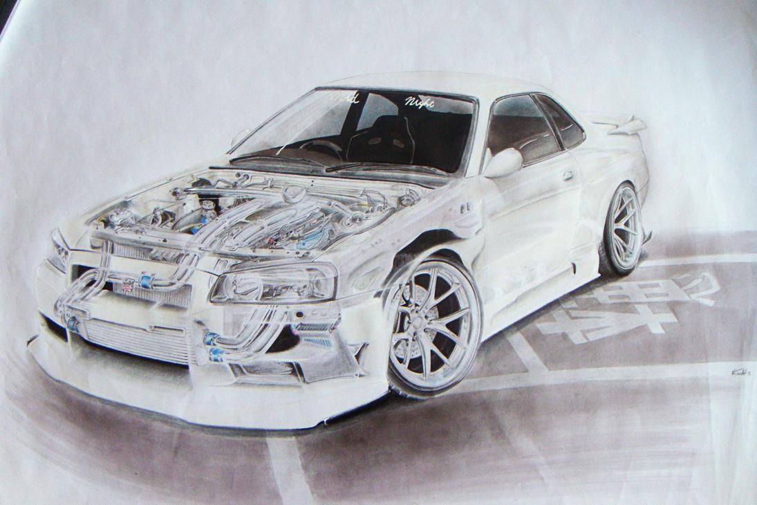 Nissan Skyline Sketch Nissan Skyline R34 Bnr34
