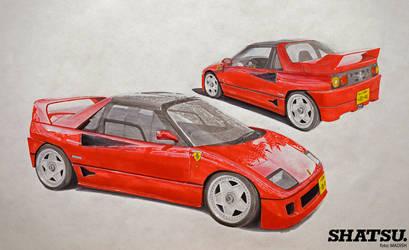 Madish Mazda Autozam AZ-1 Ferrari F40 replica