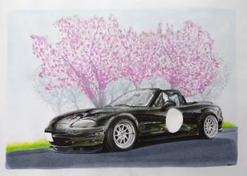 Mazda Miata drawing