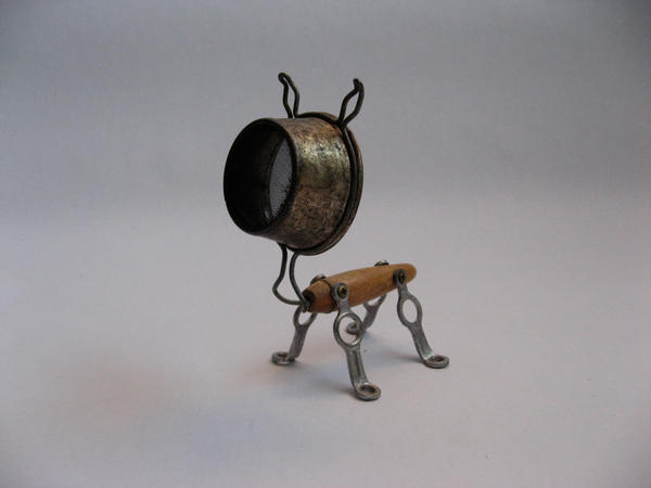 Boo - Robot Dog Sculpture by adoptabot