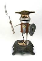 Egil - Robot Sculpture by adoptabot