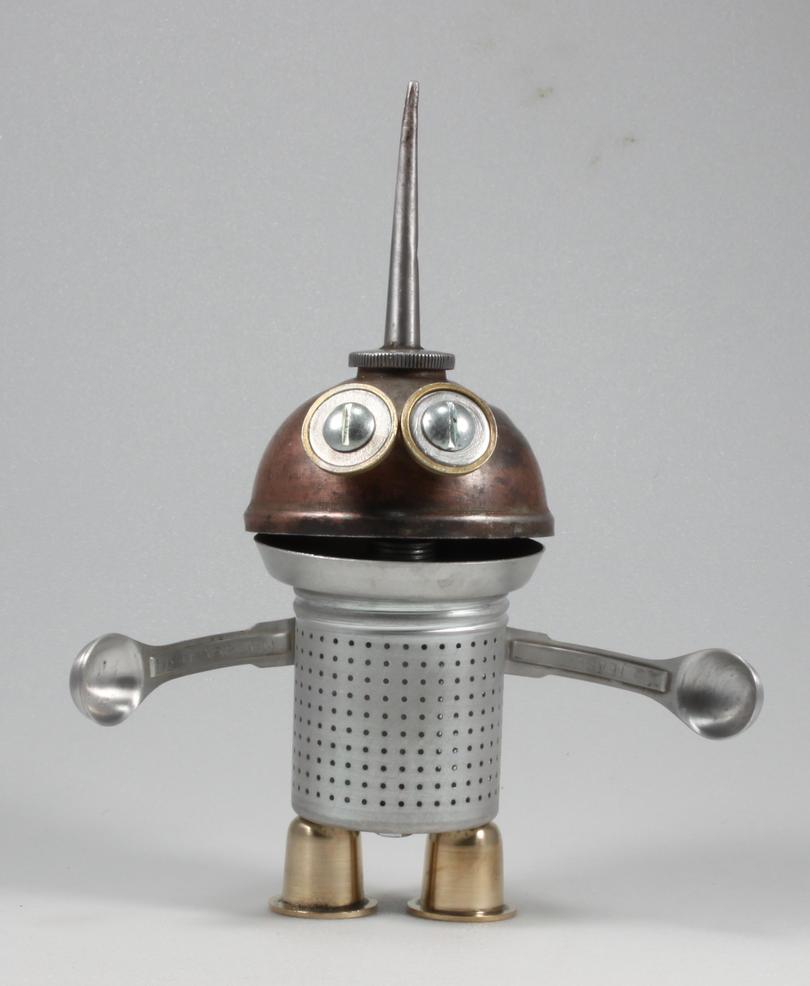 Gundar - Robot Sculpture by adoptabot