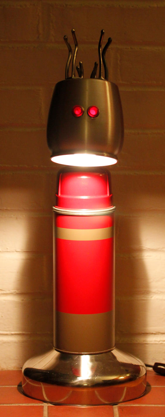 found object lamp 2 by adoptabot