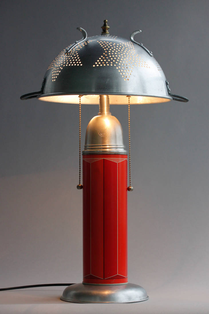colander lamp by adoptabot
